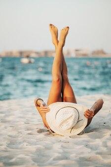 Dubai beach tourist photography.