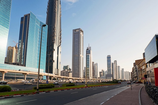 Dubai cityscape with roads
