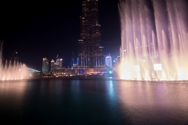 Dubai dancing water fountain