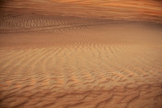 Dubai desert beautiful landscape at the sunset