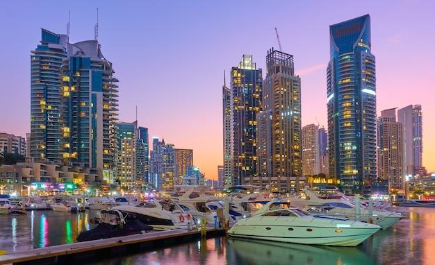 두바이 마리나 일몰, 아랍에미리트