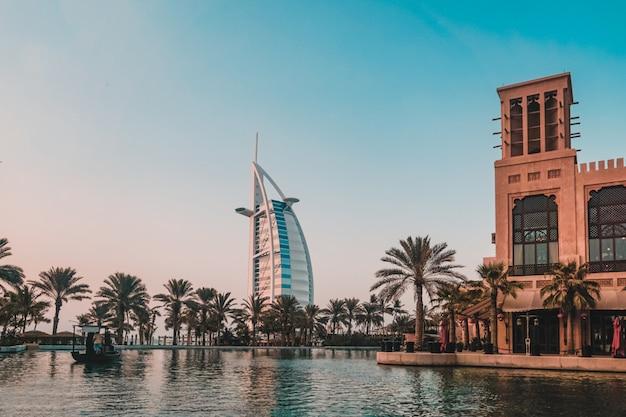 Dubai. souk madinat jumeirah in dubai in the ewening.