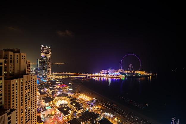Dubai,uae,december 25 of 2020 blue water island on jbr