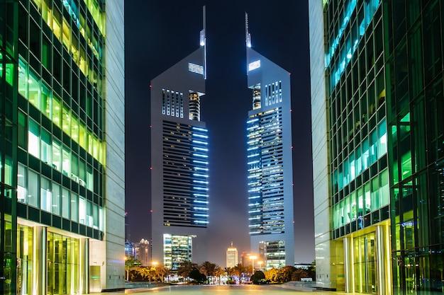 ドバイ、アラブ首長国連邦。ドバイで最高のシティホテル、ジュメイラエミレーツタワーズ