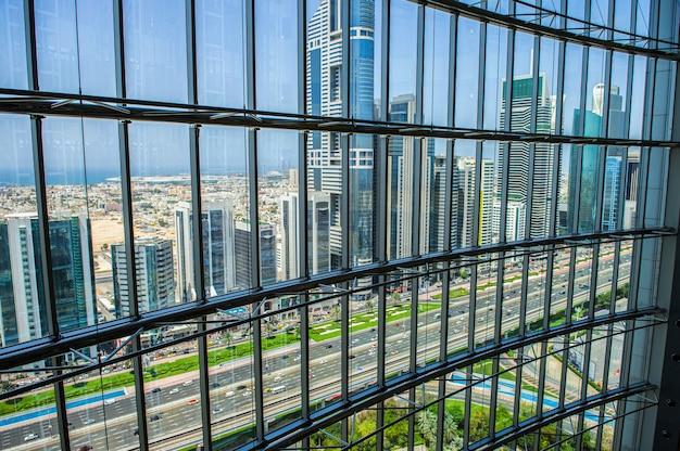 Dubai, uae - mar 27: sheikh zayed road in dubai city.march 27, 2015 in dubai, united arab emirates