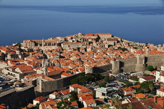 クロアチア、アドリア海のドブロブニク市