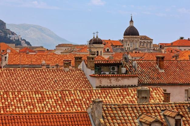 Дубровник, хорватия. старый городской пейзаж.