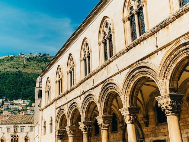 Дубровник старый город хорватия внутри вид на город