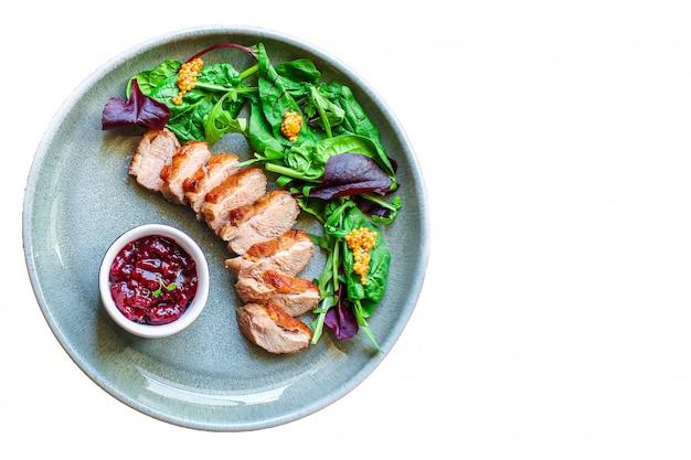 Duck breast fillet salad