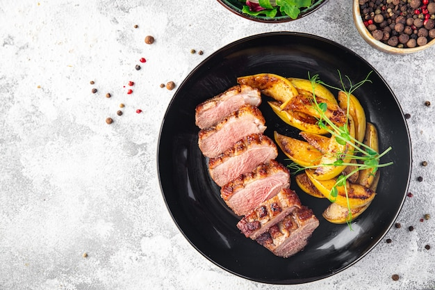 Duck breast meat and garnish poultrysecond course side dish fresh ready to eat meal snack