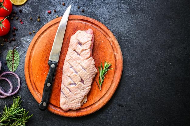 Duck breast raw fillet meat