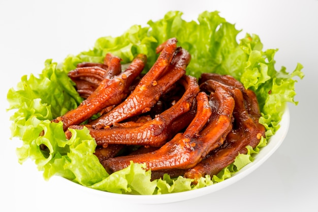 Duck legs with salad
