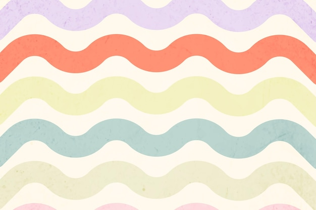 Dull pastel invected pattern
