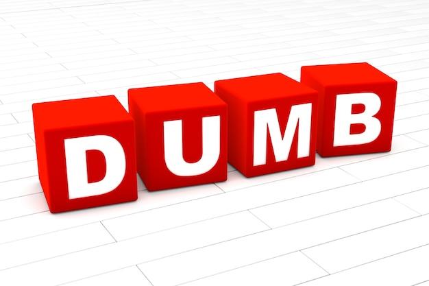 Dumb word illustration