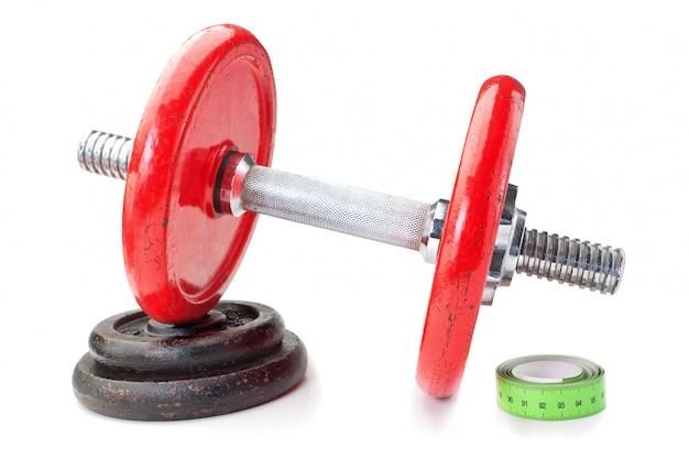 Гантель на диске и рулетке. для фитнеса. похудение.