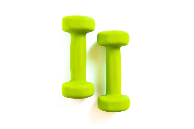 Dumbbells on a background the concept of a healthy lifestyle