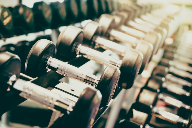 Dumbbells in a row