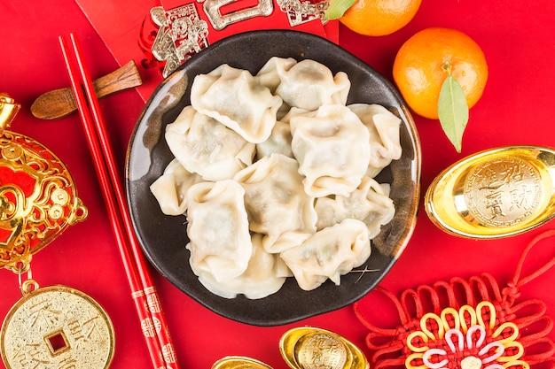 중국의 봄 축제 만두 축복