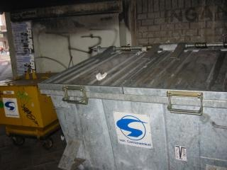 Dumpster, metallic