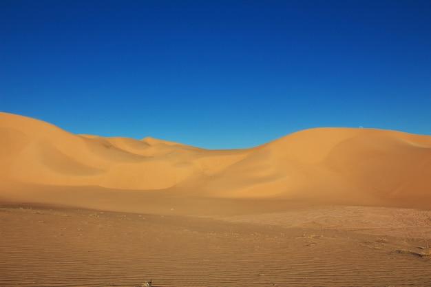 Dunes in the sahara desert in the heart of africa