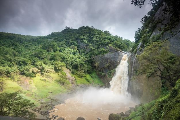 Dunhinda waterfall in sri lanka