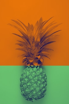 Duotone, fruit place for inscription, pineapple thai duotone