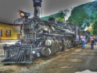 Durango-silverton train, highdynamicrange
