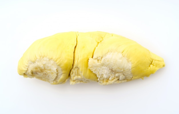Durian king of fruits  on white background .