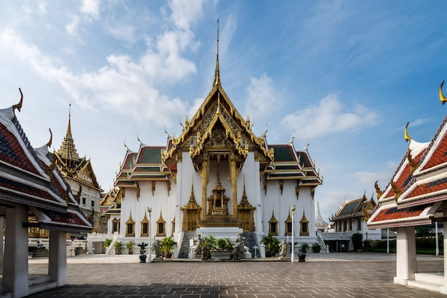 Dusit maha prasat throne hall in grand palace at bangkok, thailand.