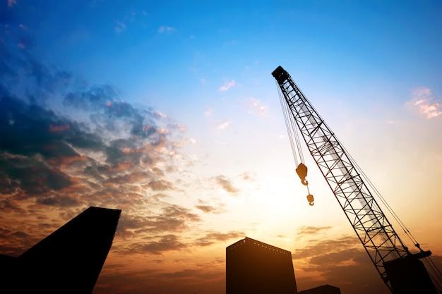 Dusk building site