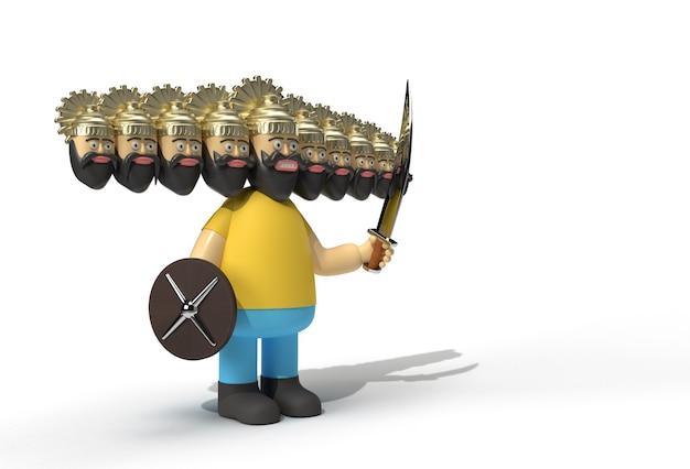 Праздник душеры - равана с десятью головами, мечом и пером-щитом. созданный обтравочный контур. включен в jpeg. простота компоновки.