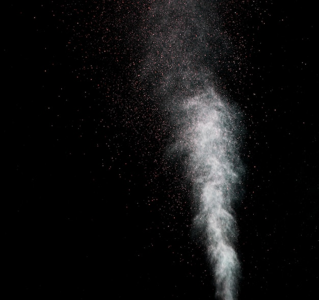 Dust explosion on a black background.