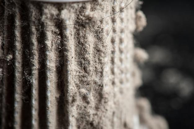 Dust on hepa filter