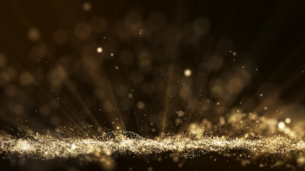 Dust particle explosion, light ray effect, motion titles cinematic background.