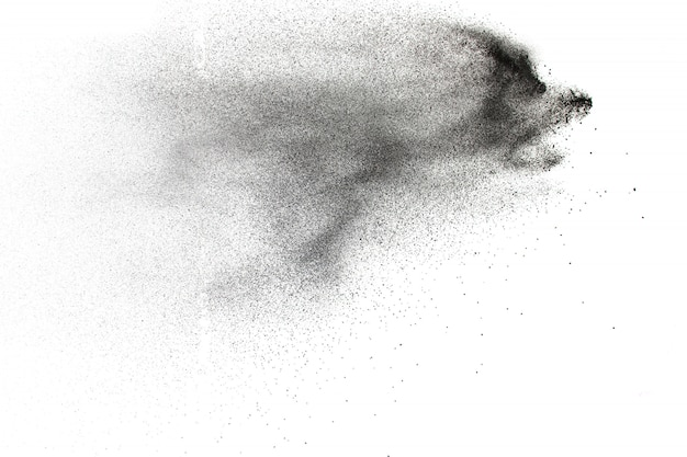 Dust particle splash background