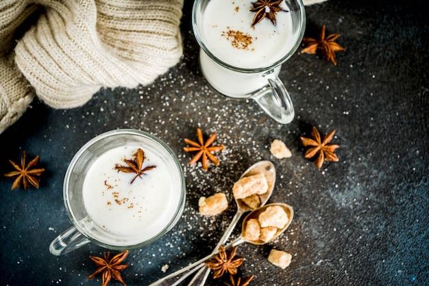 Dutch hot dairy drink anijsmelk