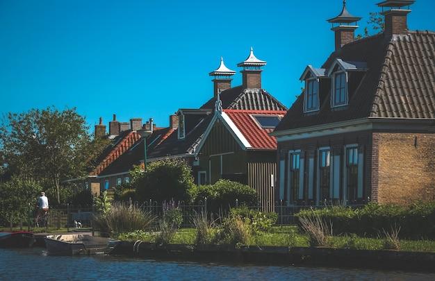 여름에 네덜란드 풍경