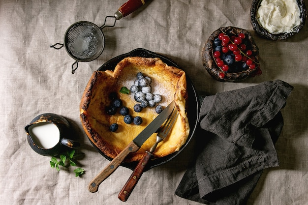 Dutch pancake with berries