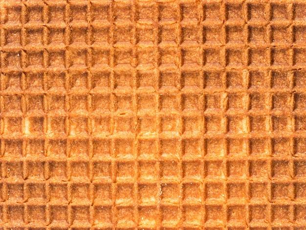 Dutch waffle texture close up