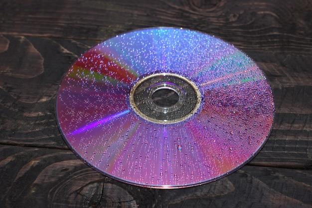 暗いクローズアップのdvdドライブ
