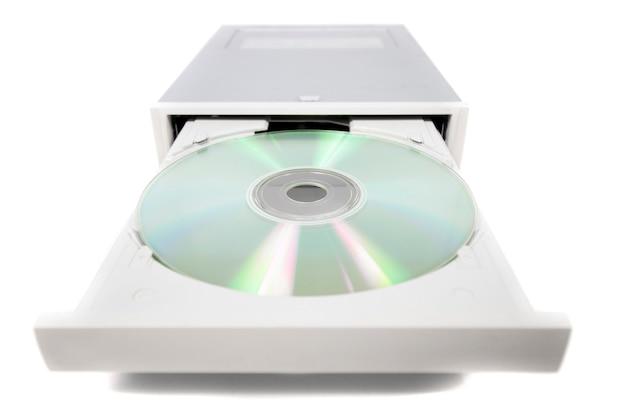 白のオープンdvd-rom