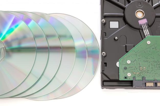 Жесткий диск и dvd-диск