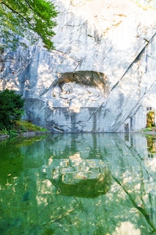 Dying lion monument, landmark in lucerne switzerland