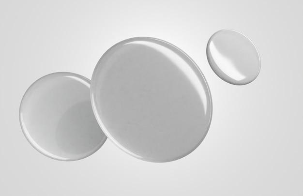 ダイナミックな空白の白い3dバッジ
