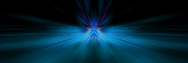 Dynamic blue and dark lines of light.