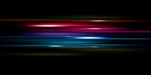 ダイナミックグロー抽象的なトレンディな幾何学的なネオン光の急速な動き