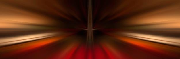 Динамические линии света. свет от центральной точки. огненный фон с полосами