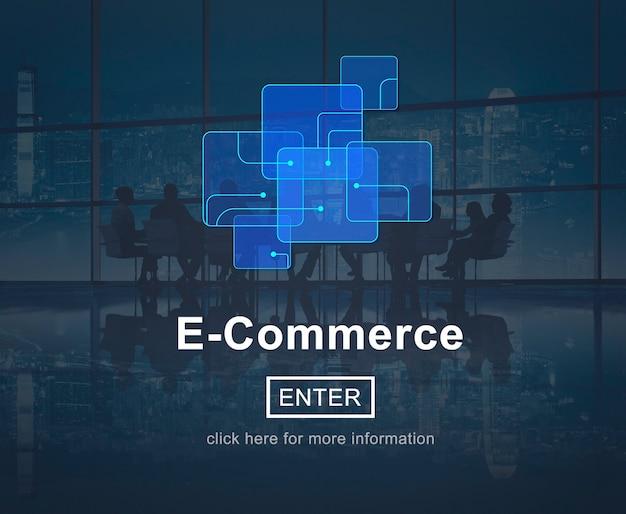 Плакат электронной коммерции