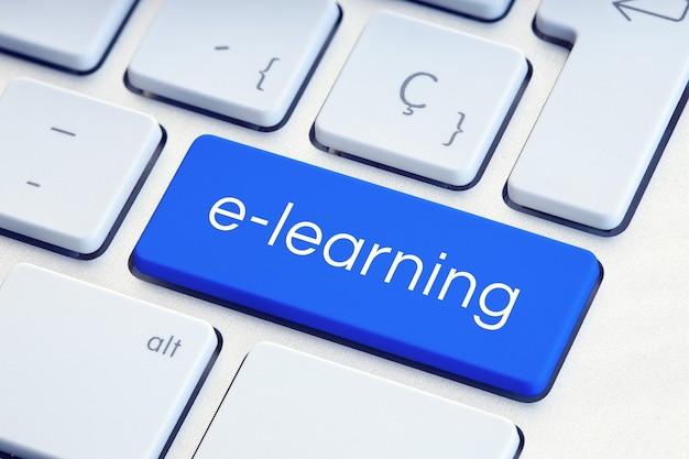 E- 러닝 또는 온라인 교육 개념