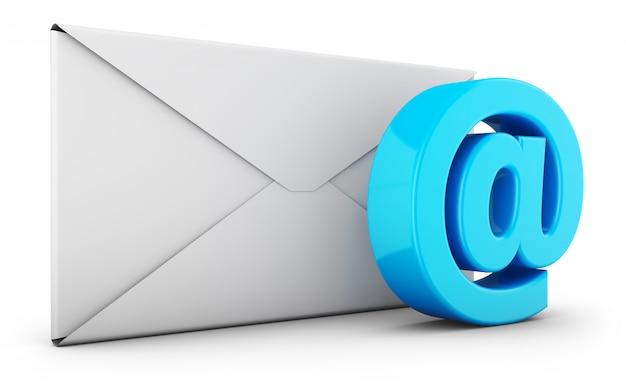封筒とeメールのサイン
